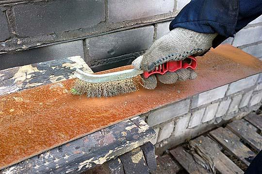 Подготовка поверхности металла перед покраской