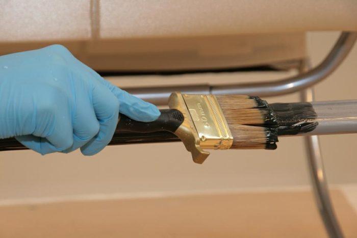 Процесс окрашивания металла