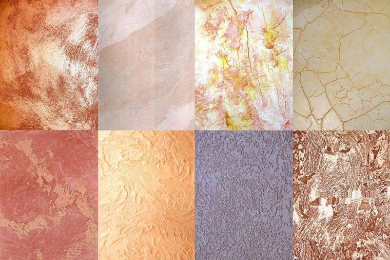 Примеры поверхностей покрытых фактурной краской