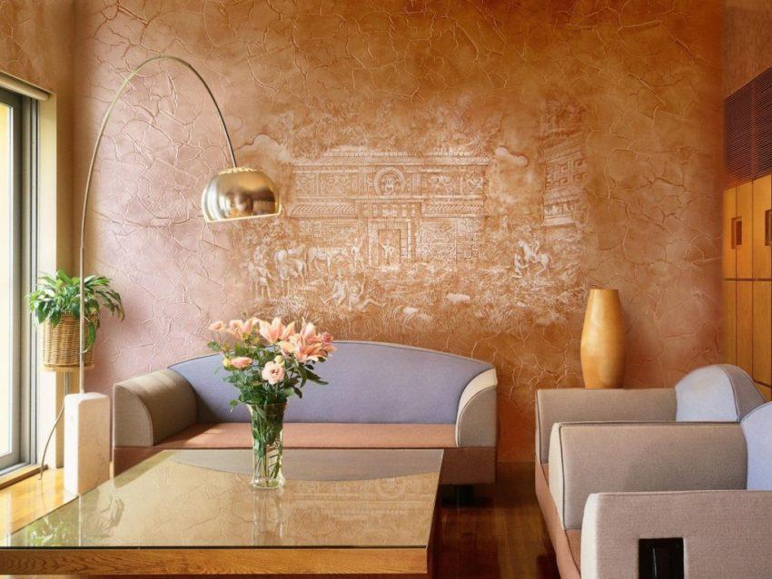 Стены покрытые фактурной краской