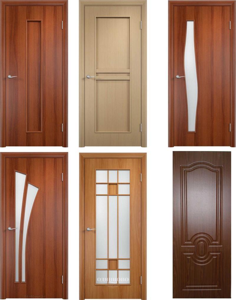 Образцы дверей из МДФ