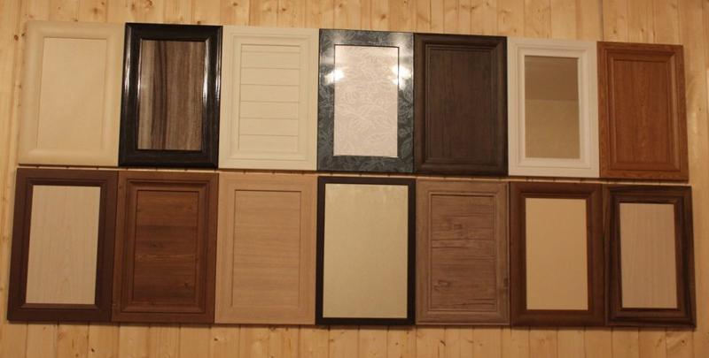 Образцы мебельных фасадов из панелей МДФ