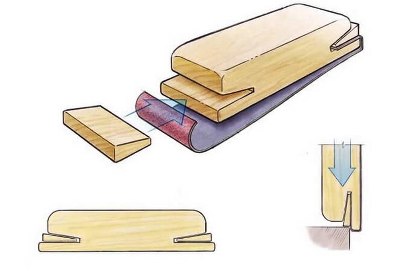 Шлифовальная колодка с клиновым креплением