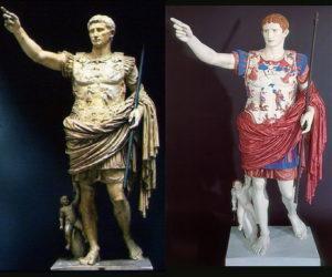 Античные статуи были раскрашены