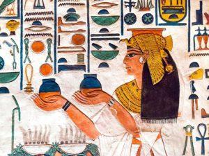Египет: Темпера на жирах
