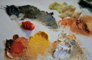 Краски в процессе высыхания