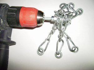 Насадка на дрель с цепями